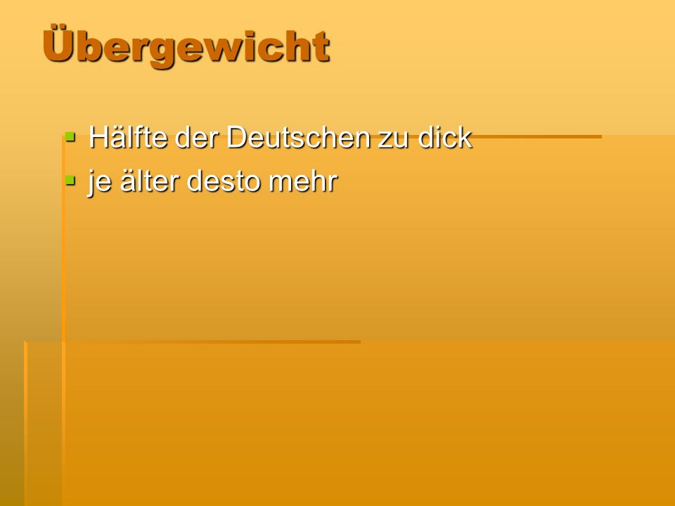 Übergewicht Hälfte der Deutschen zu dick je älter desto mehr