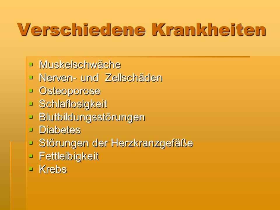 Verschiedene Krankheiten