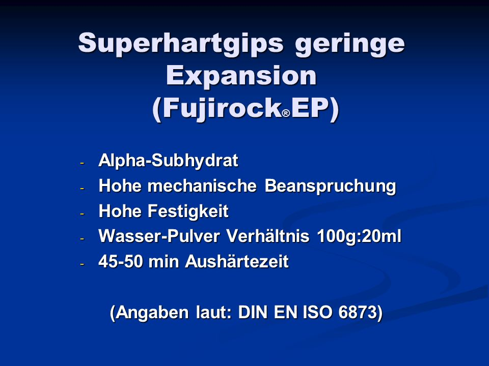 Superhartgips geringe Expansion (Fujirock®EP)