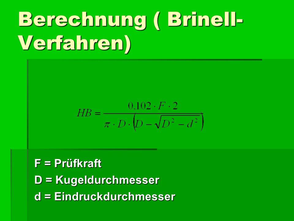 Berechnung ( Brinell-Verfahren)