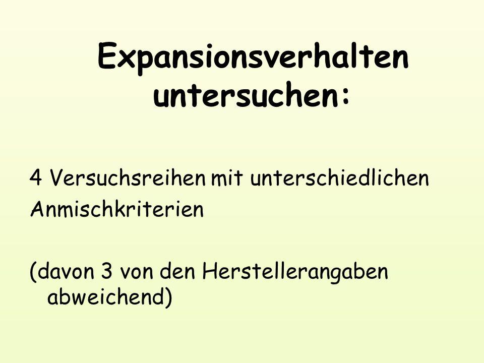 Expansionsverhalten untersuchen: