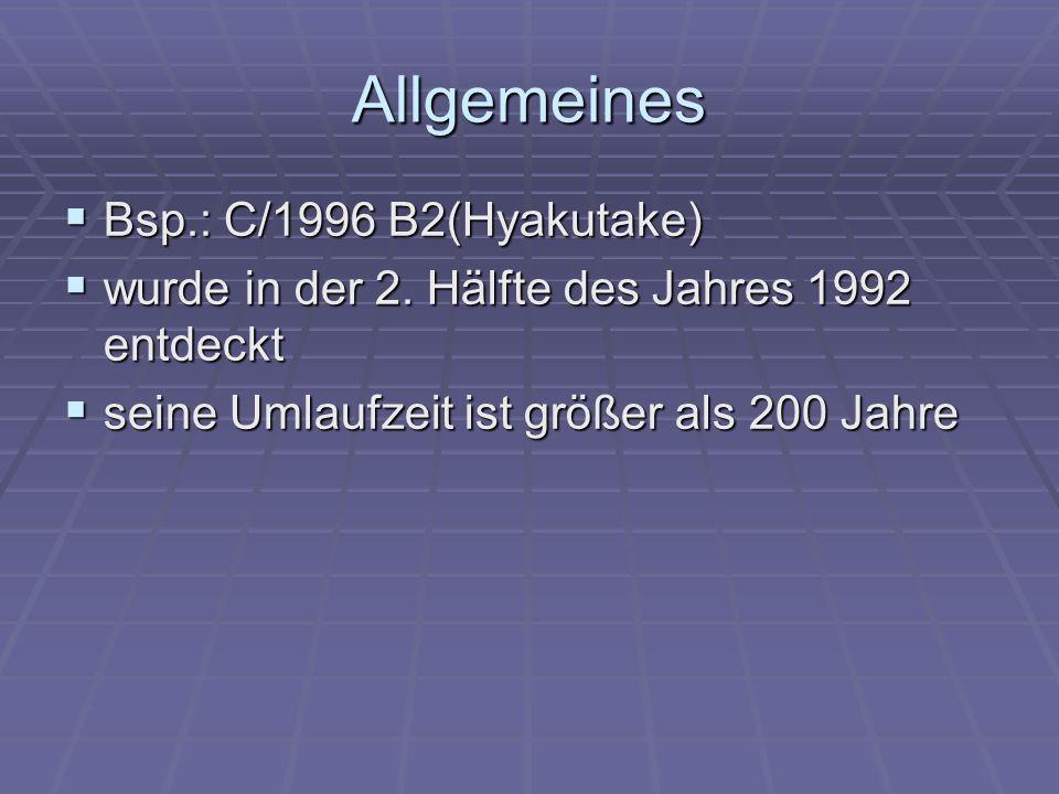 Allgemeines Bsp.: C/1996 B2(Hyakutake)