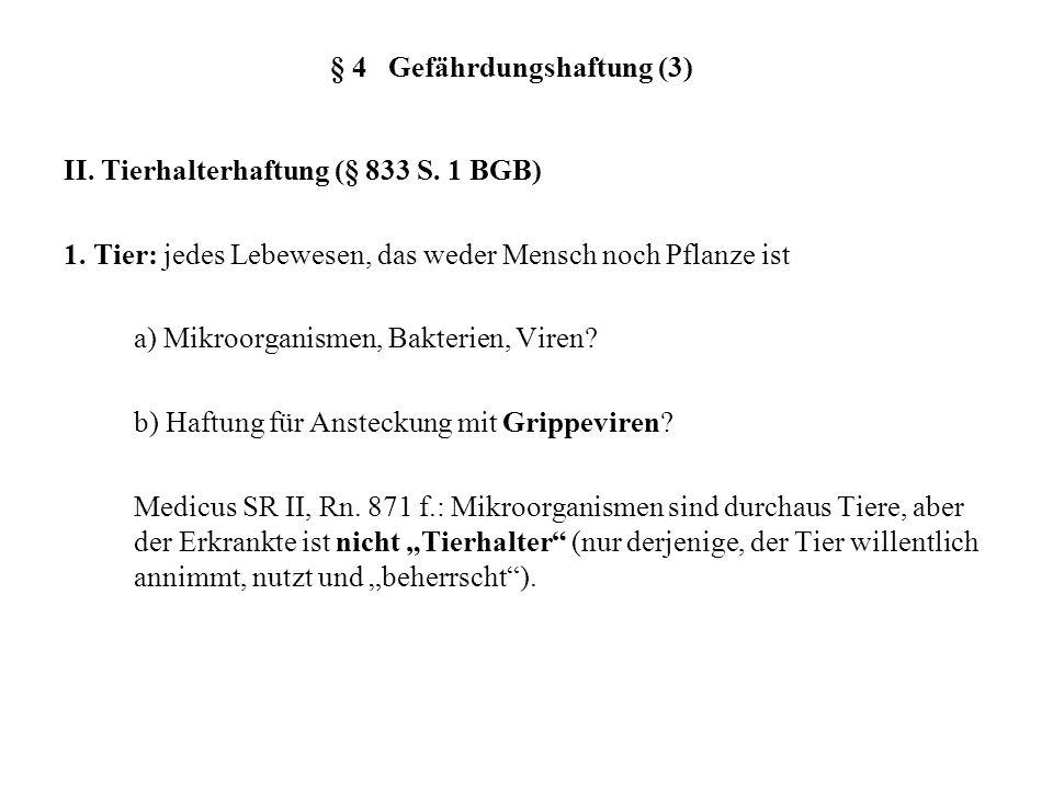 § 4 Gefährdungshaftung (3)