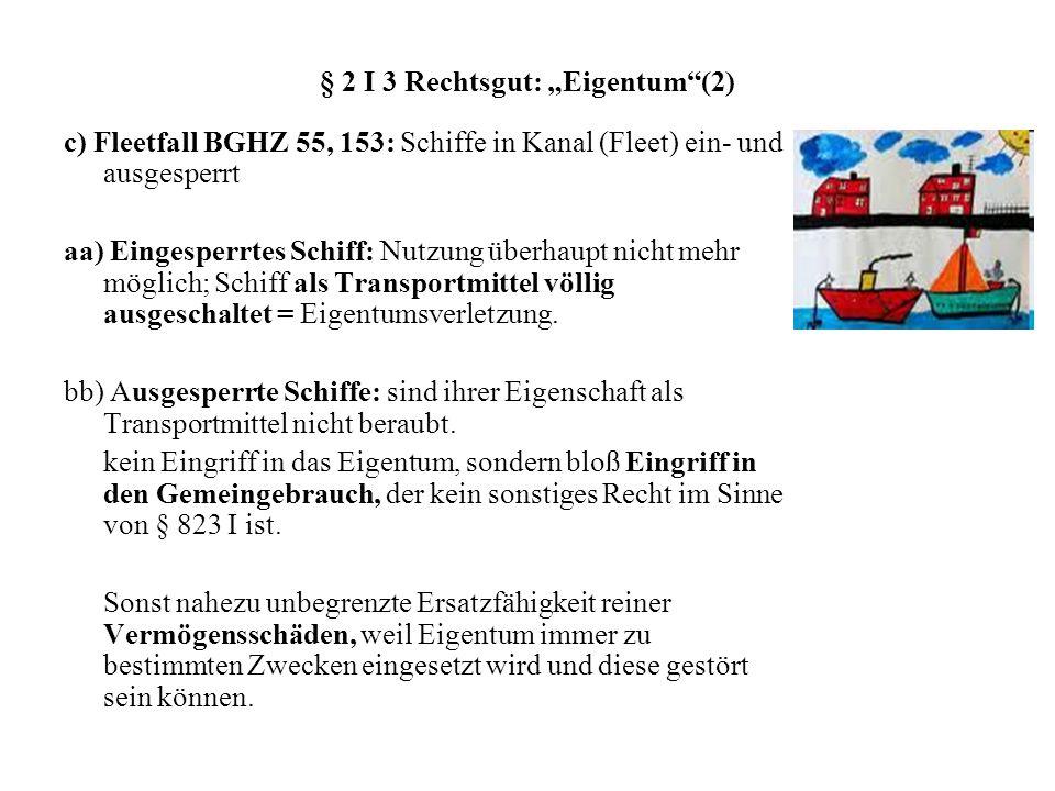"""§ 2 I 3 Rechtsgut: """"Eigentum (2)"""