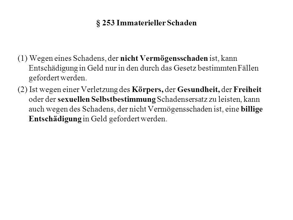 § 253 Immaterieller Schaden