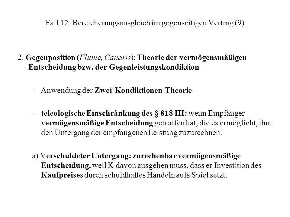 Fall 12: Bereicherungsausgleich im gegenseitigen Vertrag (9)