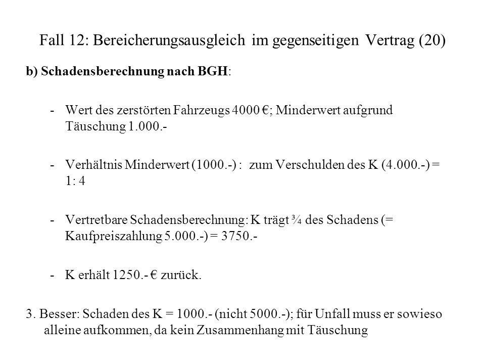 Fall 12: Bereicherungsausgleich im gegenseitigen Vertrag (20)