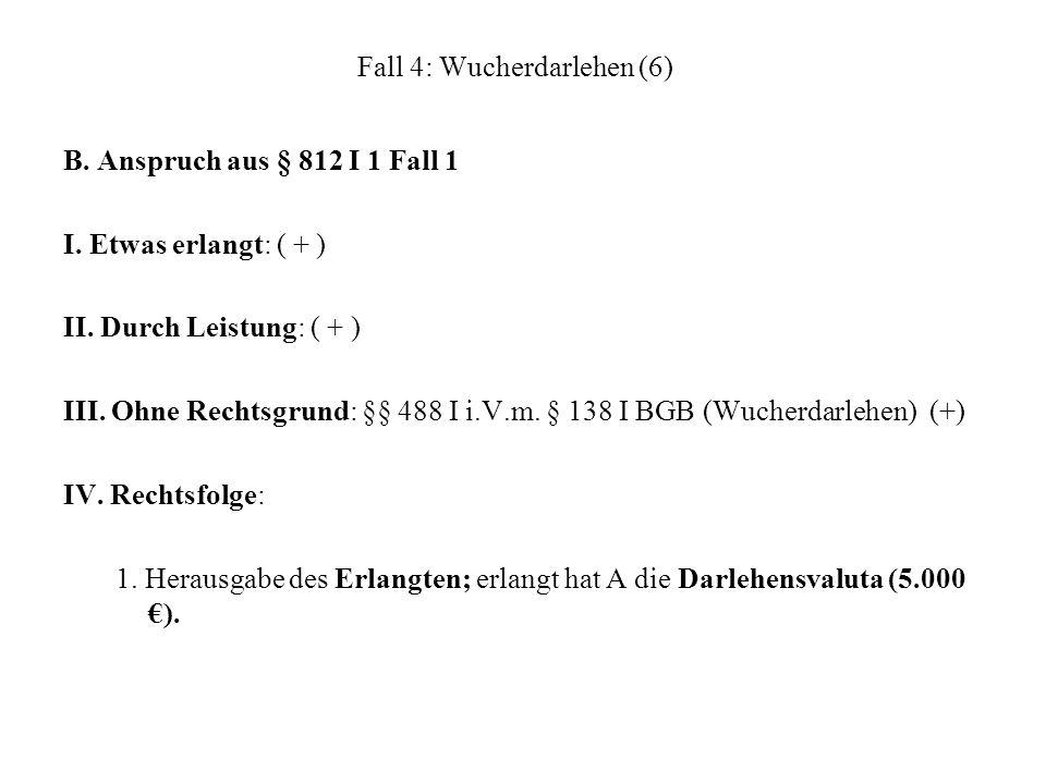 Fall 4: Wucherdarlehen (6)
