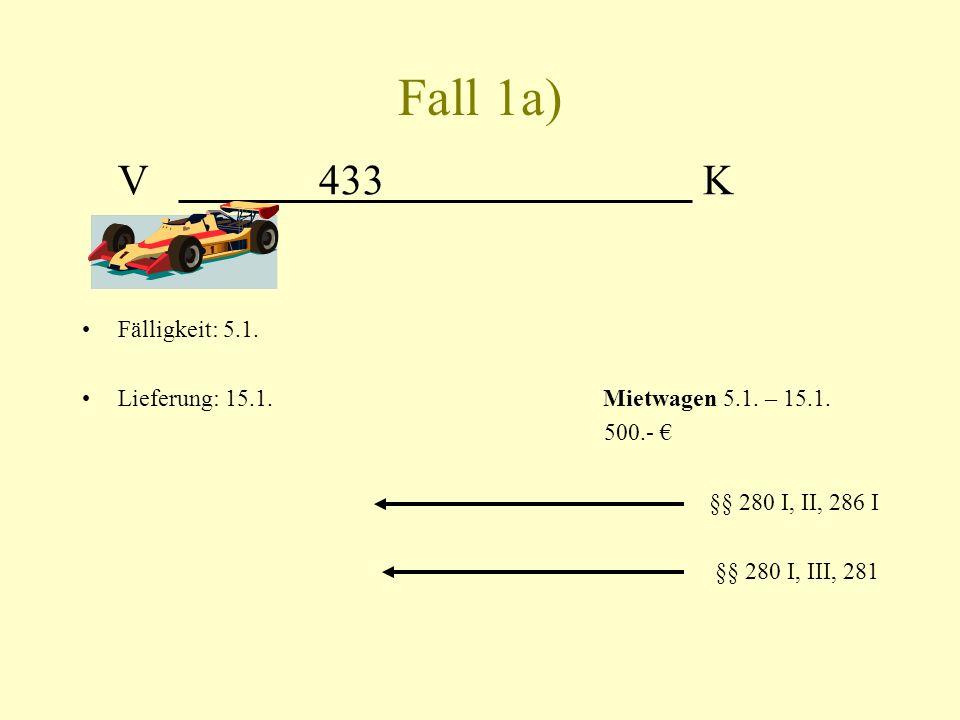 Fall 1a) V 433 K. Fälligkeit: 5.1.