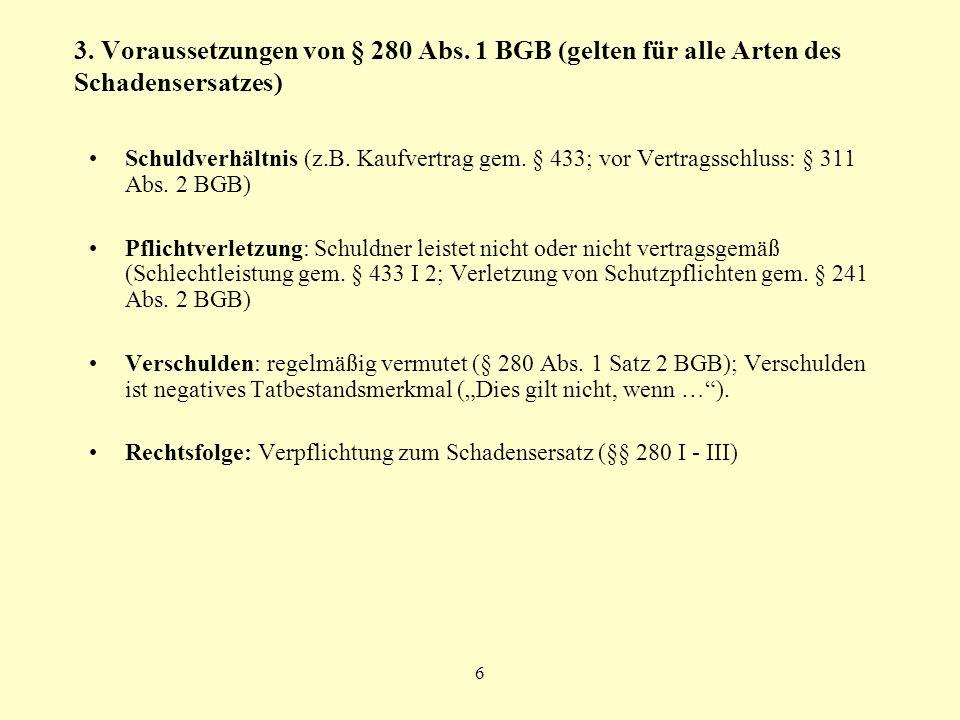 3. Voraussetzungen von § 280 Abs