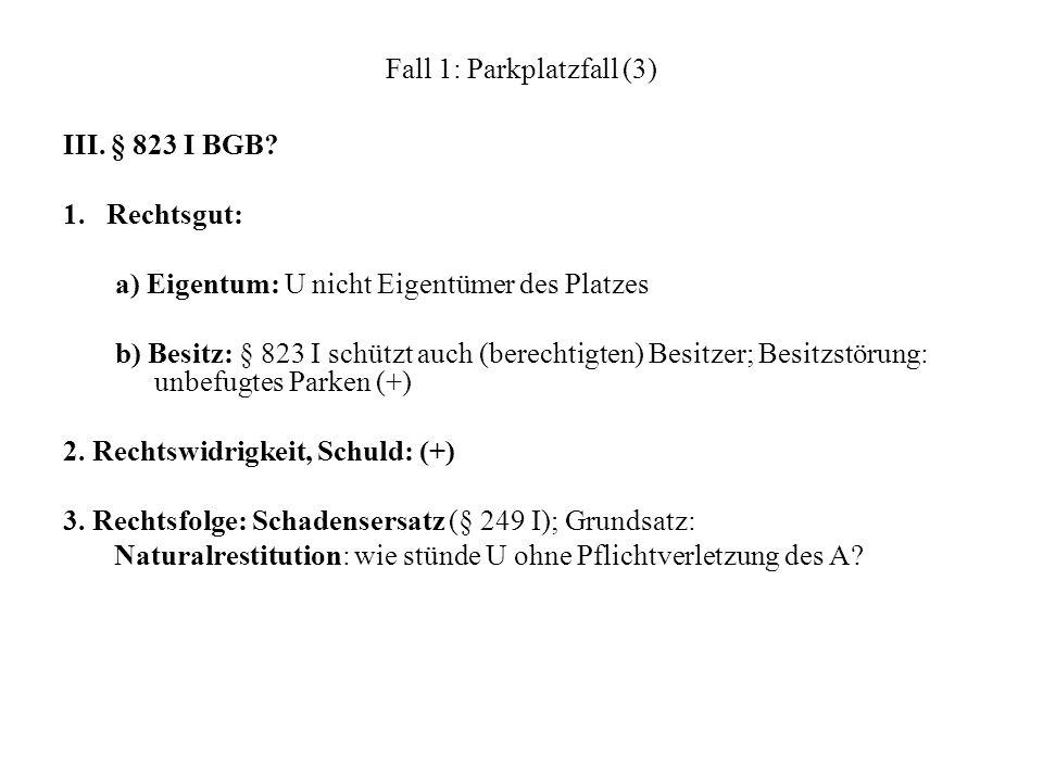 Fall 1: Parkplatzfall (3)