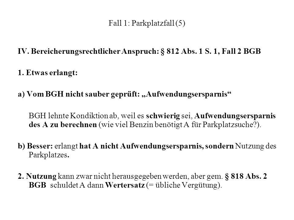 Fall 1: Parkplatzfall (5)