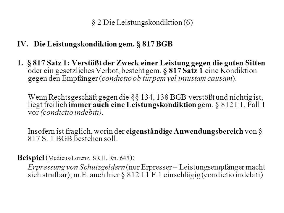 § 2 Die Leistungskondiktion (6)