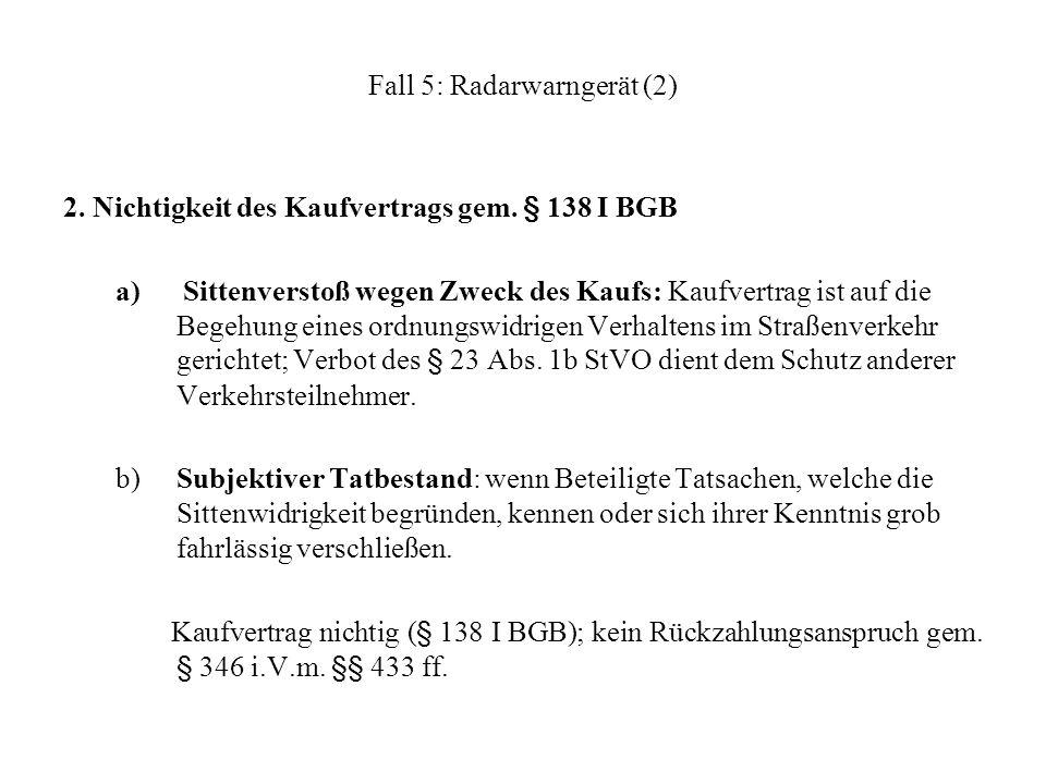 Fall 5: Radarwarngerät (2)