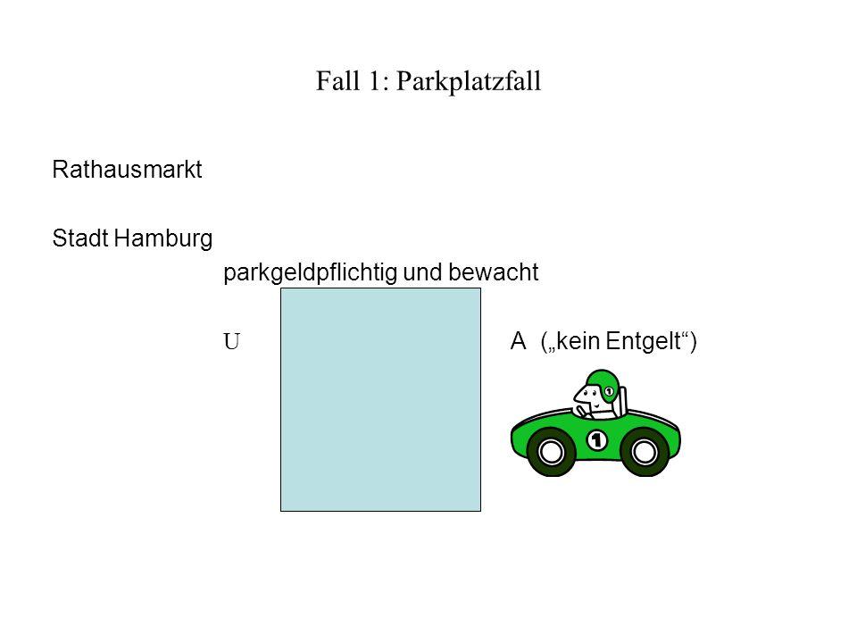 Fall 1: Parkplatzfall Rathausmarkt Stadt Hamburg