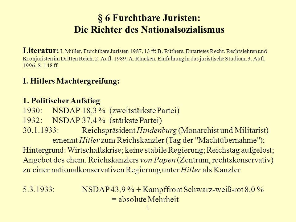 § 6 Furchtbare Juristen: Die Richter des Nationalsozialismus