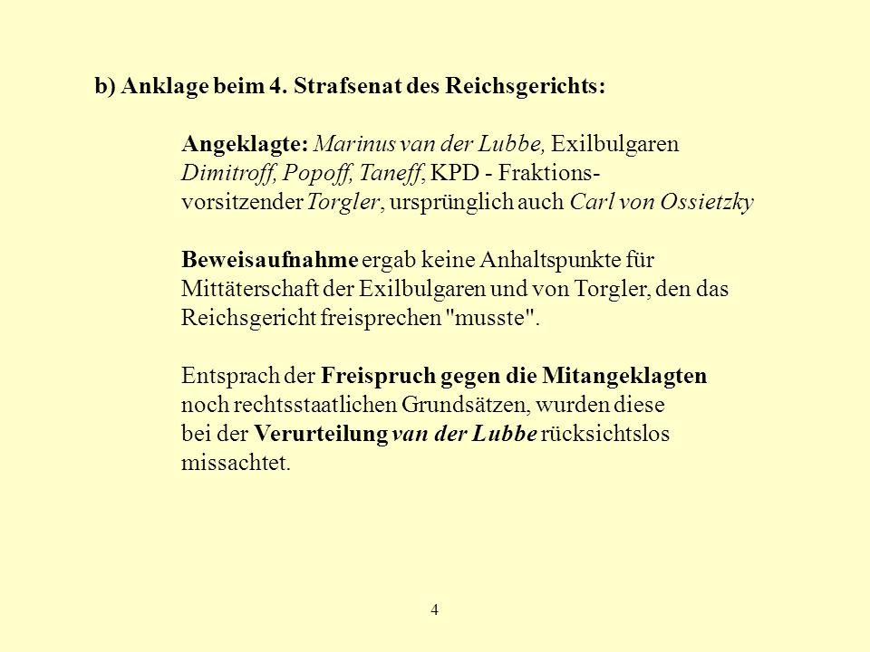 b) Anklage beim 4. Strafsenat des Reichsgerichts: