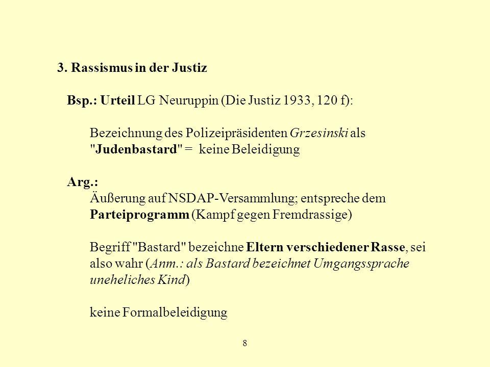 3. Rassismus in der Justiz