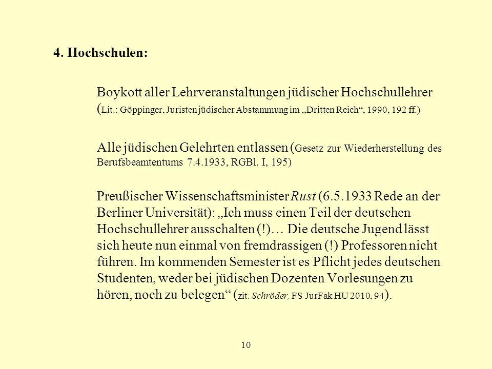 4. Hochschulen: