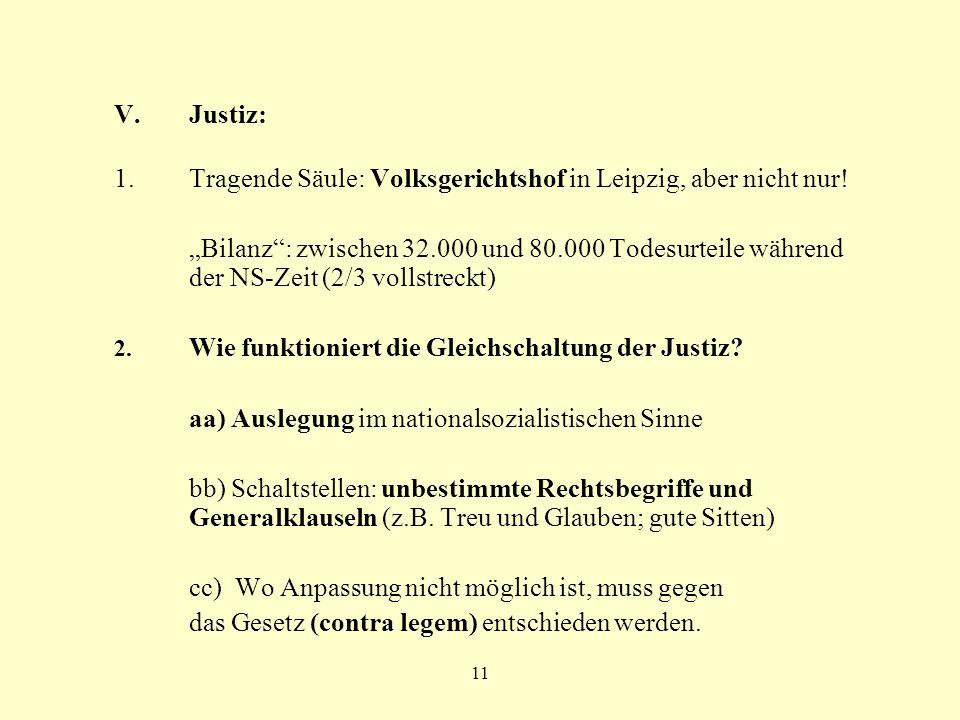Tragende Säule: Volksgerichtshof in Leipzig, aber nicht nur!