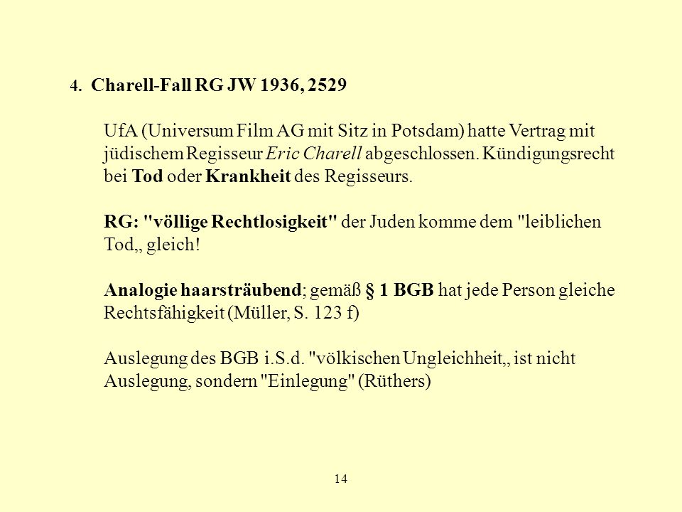 4. Charell-Fall RG JW 1936, 2529