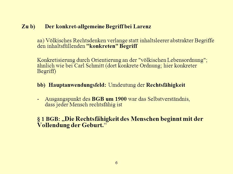 Zu b) Der konkret-allgemeine Begriff bei Larenz
