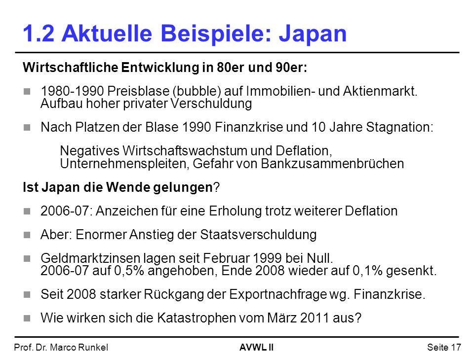 1.2 Aktuelle Beispiele: Japan
