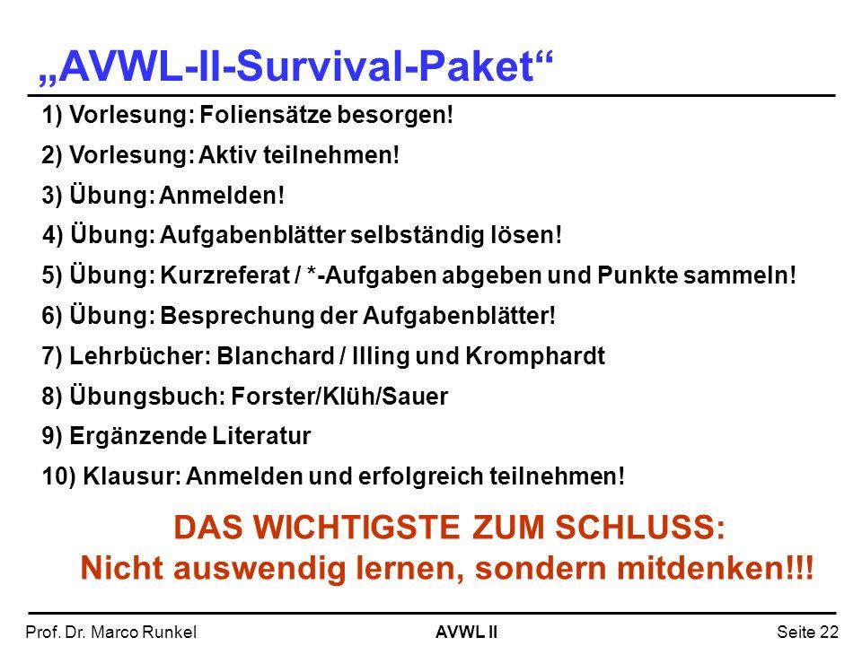"""AVWL-II-Survival-Paket"