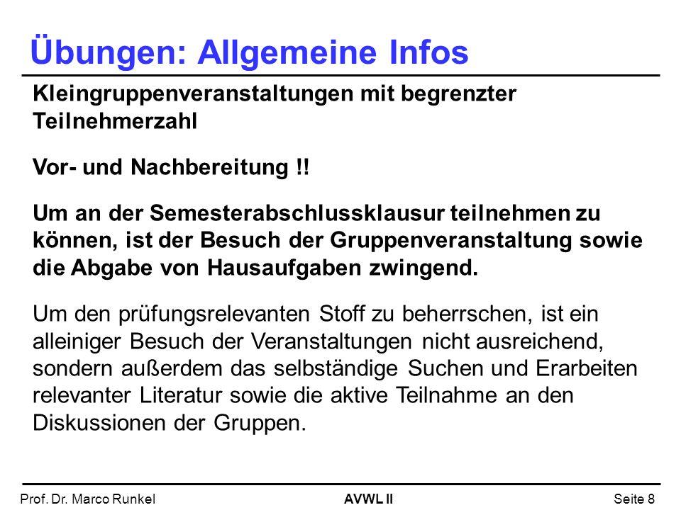 Übungen: Allgemeine Infos