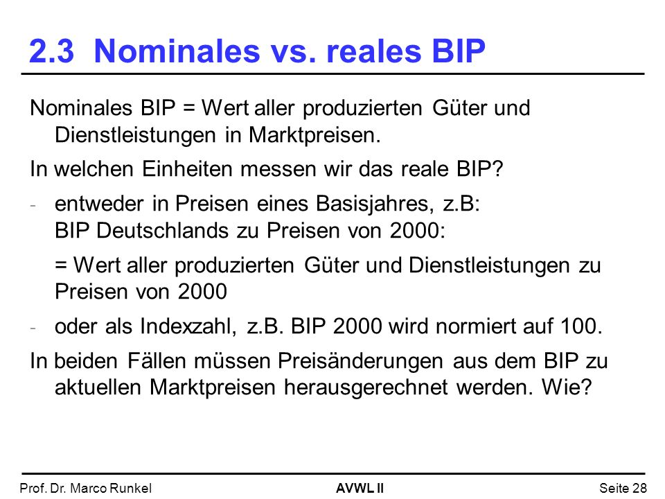 2.3 Nominales vs. reales BIP