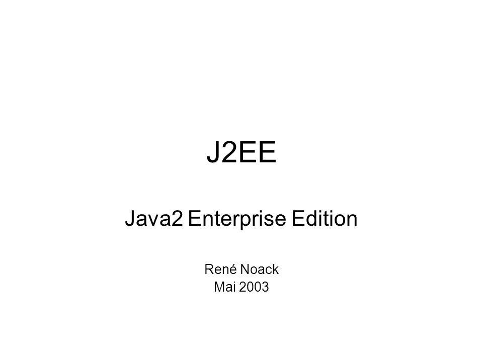 Java2 Enterprise Edition René Noack Mai 2003