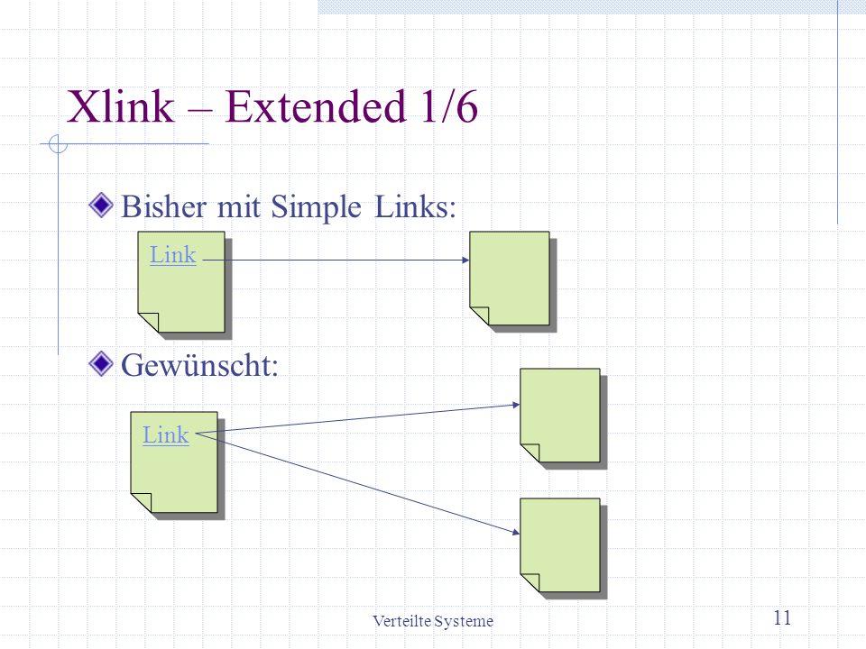 Xlink – Extended 1/6 Bisher mit Simple Links: Gewünscht: Link Link