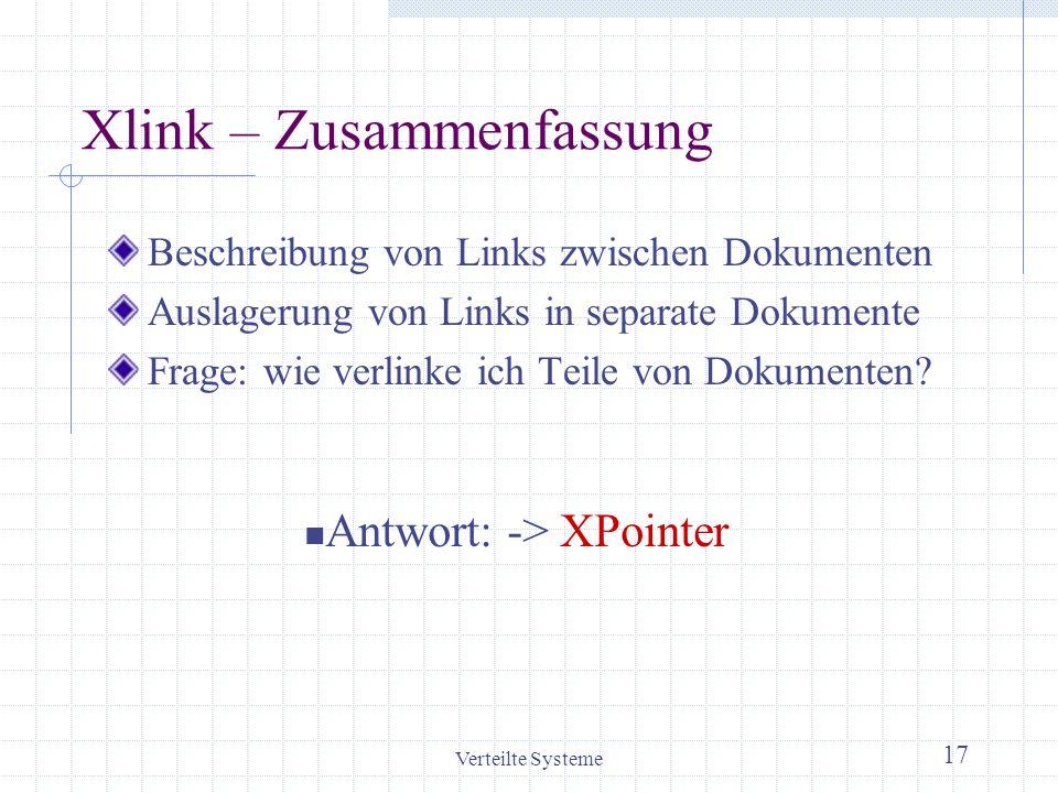 Xlink – Zusammenfassung
