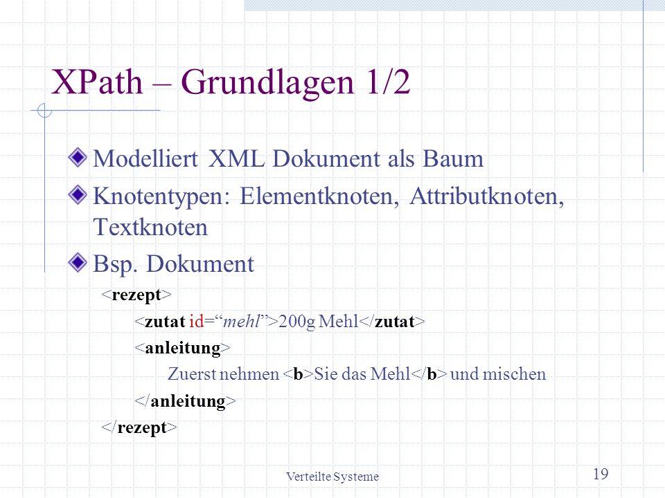 XPath – Grundlagen 1/2 Modelliert XML Dokument als Baum