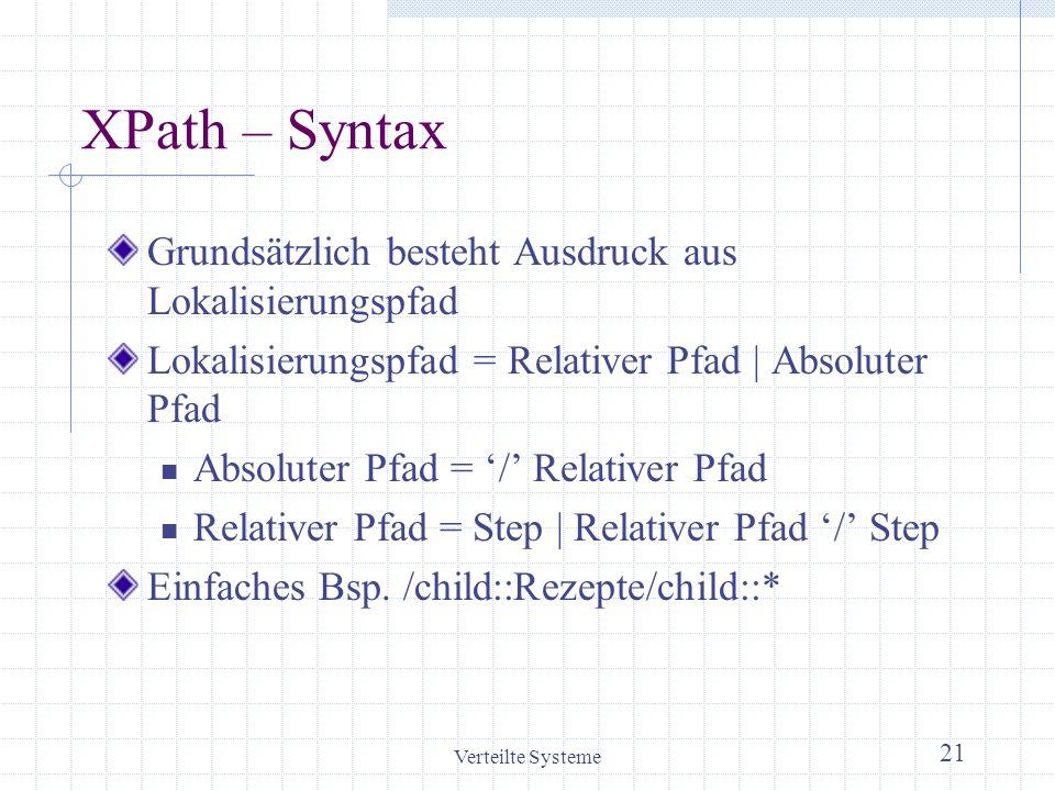 XPath – Syntax Grundsätzlich besteht Ausdruck aus Lokalisierungspfad