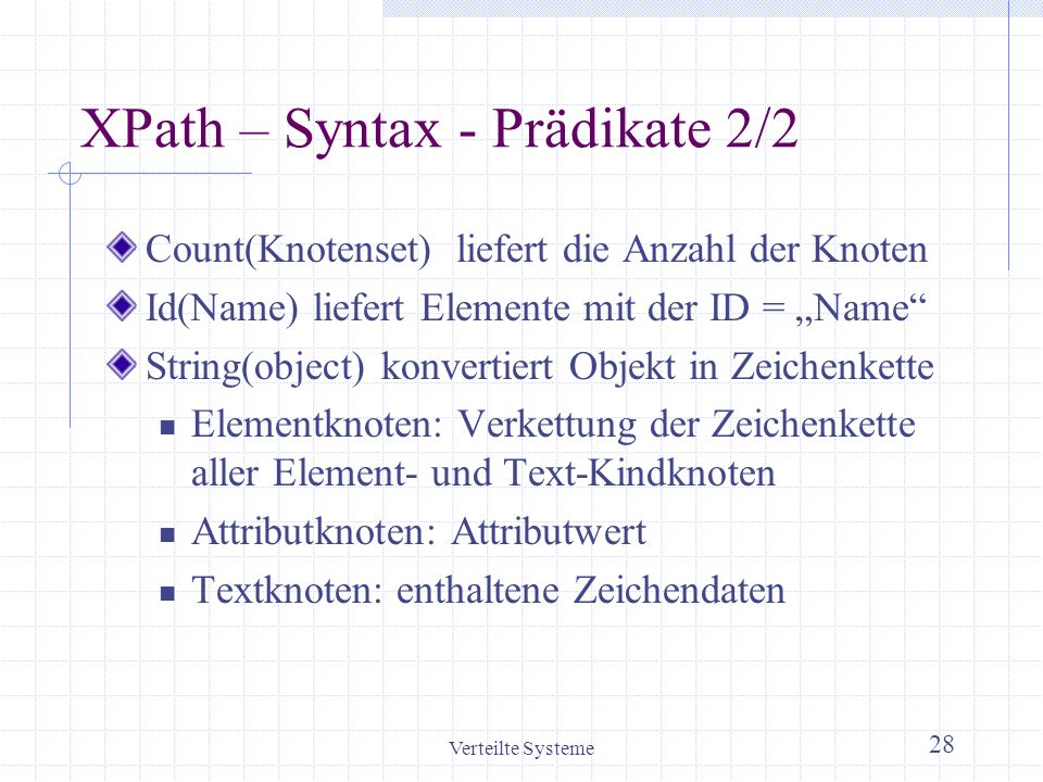 XPath – Syntax - Prädikate 2/2