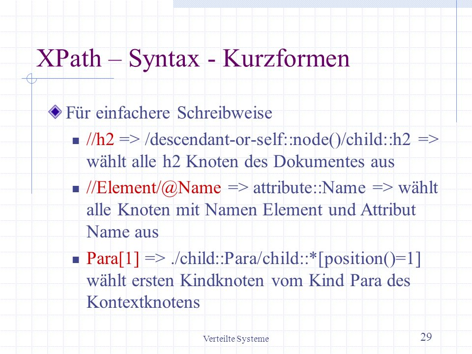XPath – Syntax - Kurzformen