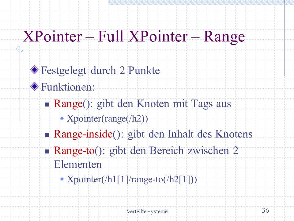 XPointer – Full XPointer – Range