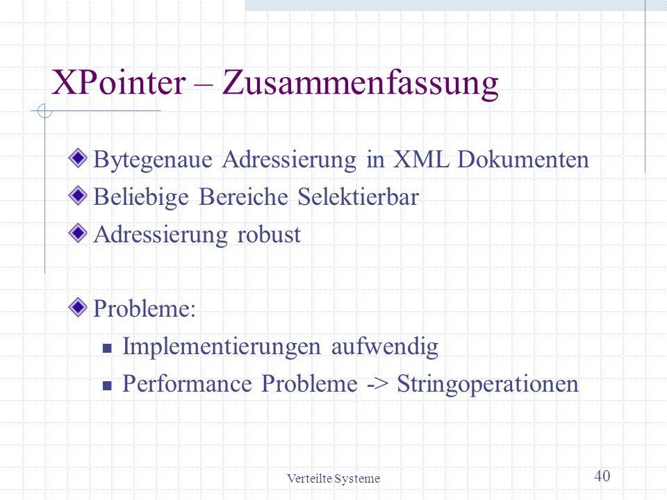 XPointer – Zusammenfassung