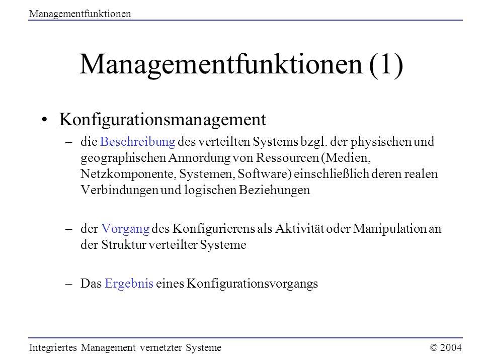 Managementfunktionen (1)