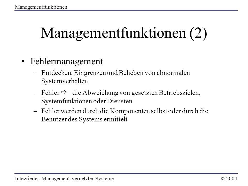 Managementfunktionen (2)