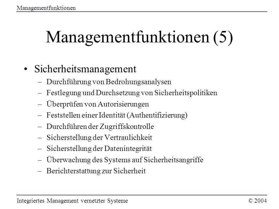 Managementfunktionen (5)
