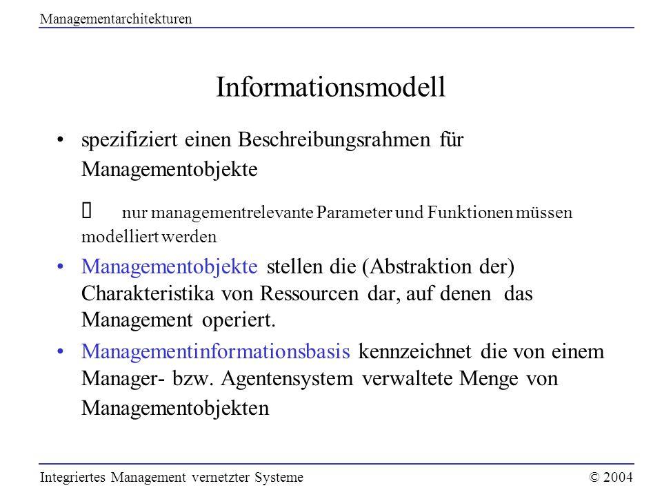 Managementarchitekturen