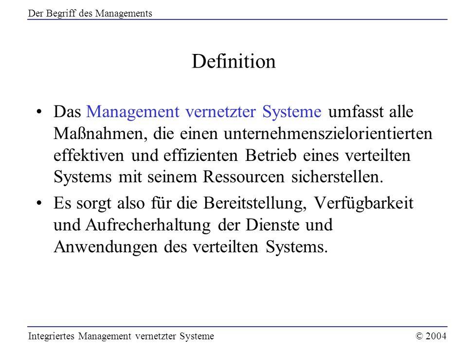 Der Begriff des Managements
