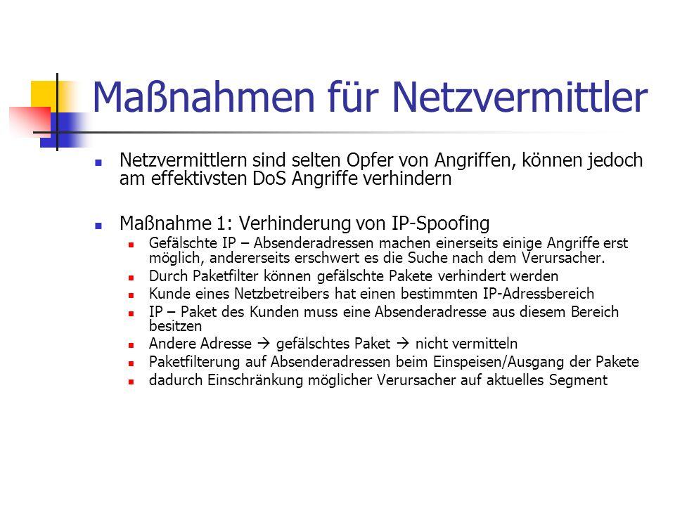 Maßnahmen für Netzvermittler