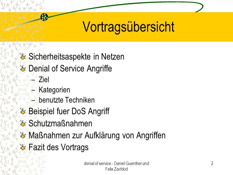 denial of service - Daniel Guenther und Felix Zachlod