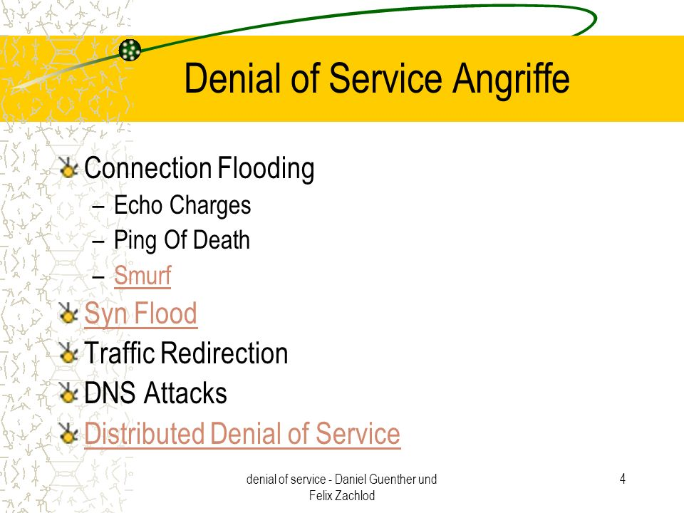 Denial of Service Angriffe