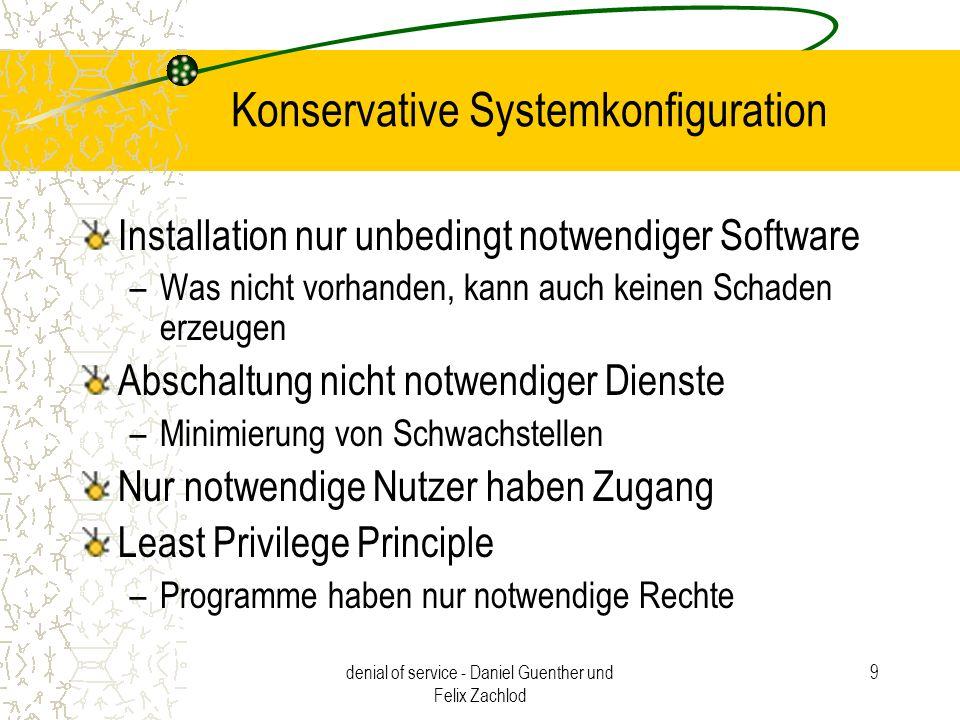 Konservative Systemkonfiguration