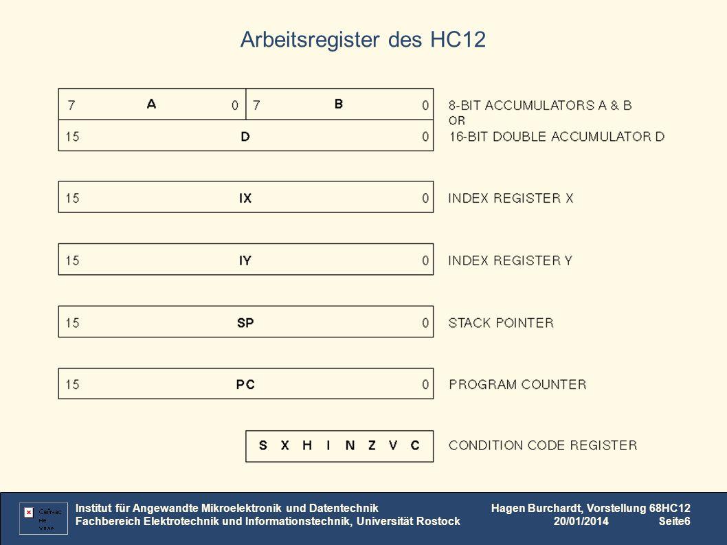 Arbeitsregister des HC12