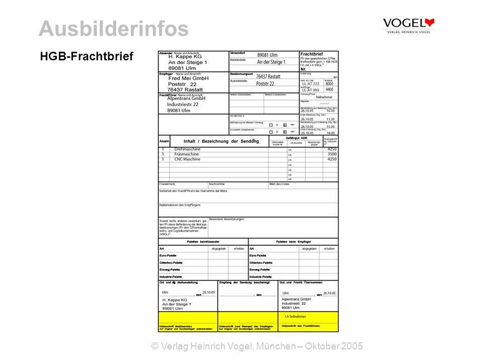 Ausbilderinfos HGB-Frachtbrief